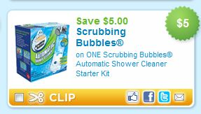 Clever Storage scrubbing bubbles bathroom cleaner coupon containers from home