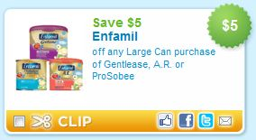 image about Printable Enfamil Coupon titled Printable Coupon Warn: Enfamil Gentlease, A.R or ProSobee