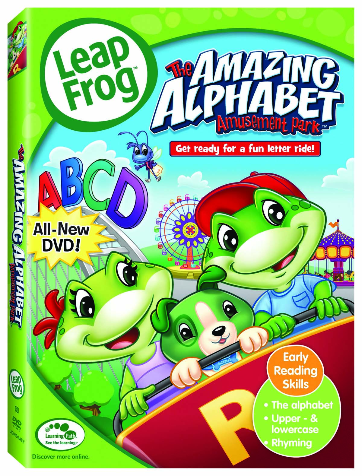 Letters m, n, o, p, q song from leapfrog: the amazing alphabet.