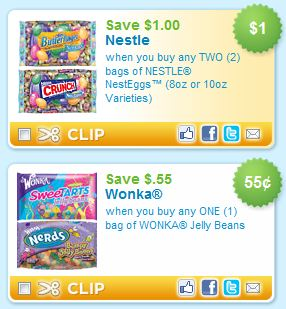 image about Printable Candy Coupons identify Easter Sweet Printable Discount codes: Nestle Wonka - Koupon Karen