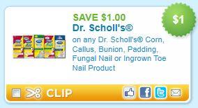 photograph regarding Dr Scholls Printable Coupon named Dr. Scholls Nail Products Printable Coupon - Koupon Karen
