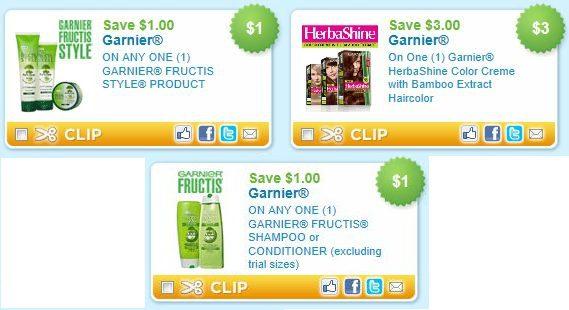 Garnier manufacturer coupons