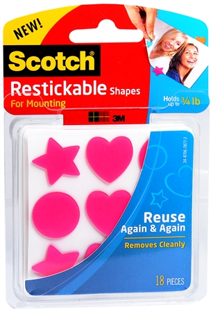 Scotch Restickable Strips Tabs And Colored Shapes Review