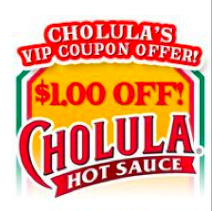 Cholula Hot Sauce Printable Coupon