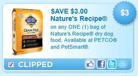 Natures Recipe Dog Food Coupons June