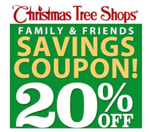 20 off christmas tree shops printable coupon - Christmas Tree Shop Printable Coupon