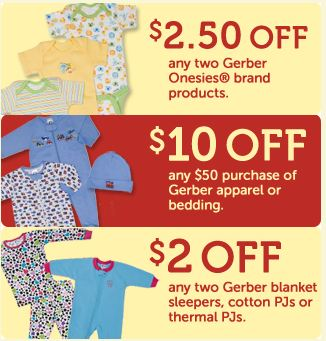 graphic about Gerber Printable Coupons titled Gerber Childrens Apparel Printable Discount codes - Koupon Karen