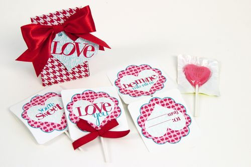 Valentine's Day lollipop covers