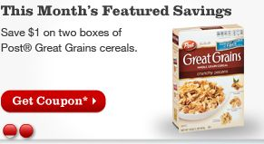 photograph about Post Cereal Printable Coupons titled Best Grains Cereal Printable Coupon - Koupon Karen