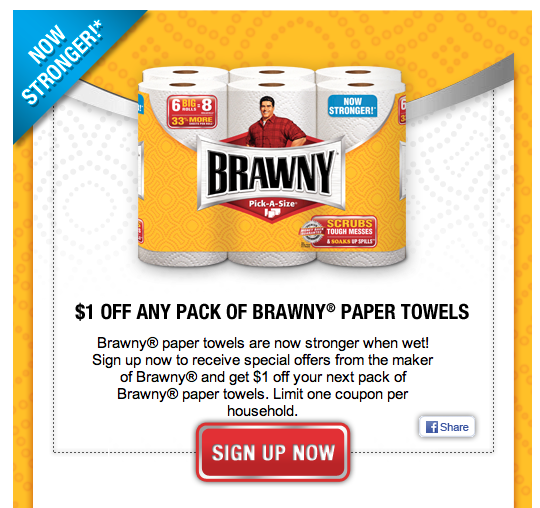 image regarding Brawny Printable Coupons identify Incredibly hot Brawny Paper Towel Discount coupons - Koupon Karen