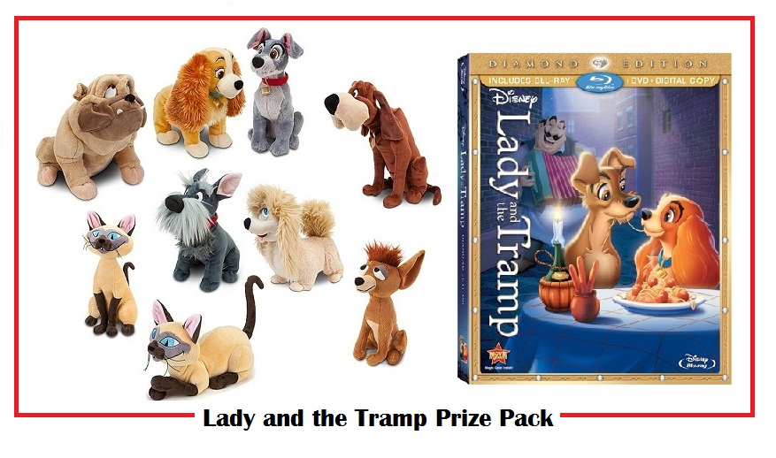 Lady And The Tramp Diamond Edition Plush Set And Blu Ray Combo Pack Giveaway Ends 2 16 Koupon Karen