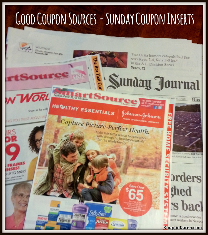 Coupon list for sunday paper