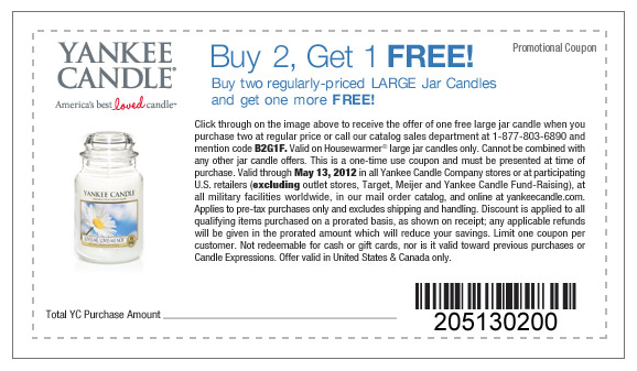 photo regarding Yankee Candle Printable Coupons titled Order 2 Buy Just one No cost Yankee Candle Printable Coupon - Koupon