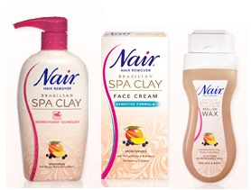 nair spa clay hair removal instructions