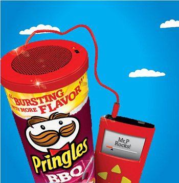 Pringles speaker giveaways
