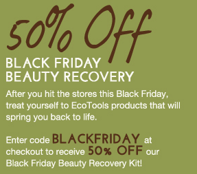 graphic relating to Ecotools Printable Coupon called 50% off  Black Friday discounts upon