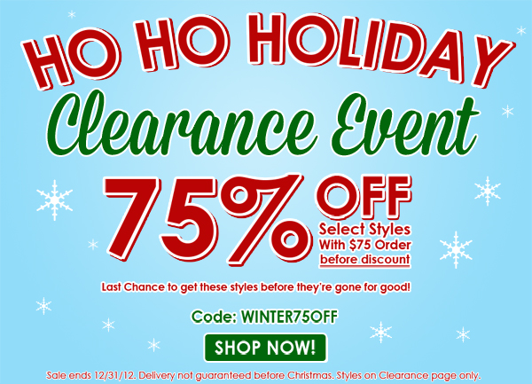 Baby Legs Holiday Clearance Event – 75% off a $75 Purchase | Ends 12/31/12