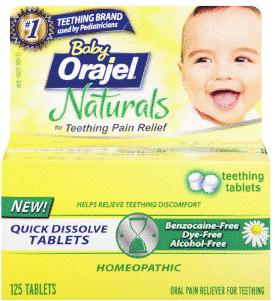 Baby Orajel Naturals Teething Tablets Giveaway Ends 1 28