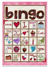 image about Printable Valentine Bingo Cards known as Valentine Bingo Playing cards - Totally free and Exciting for the Children