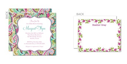 vera bradley collection for tiny prints invitations announcements