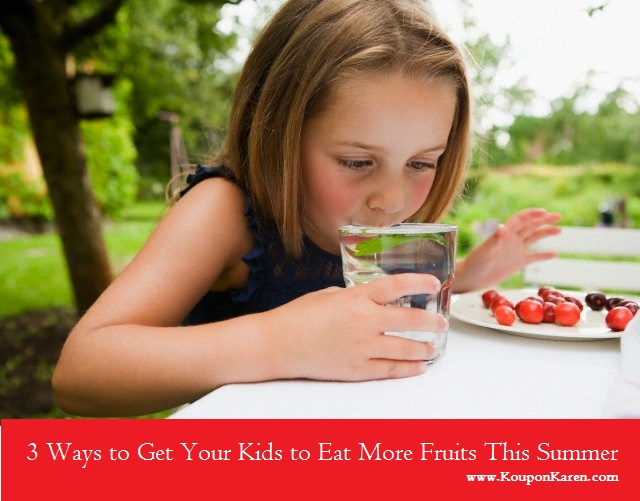 Get Kids to eat more fruits this summer
