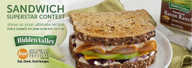 Hidden Valley Sandwich Superstar Contest