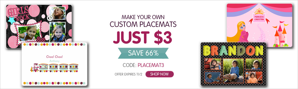 Custom Placemat for $3.00 + Shipping | Great Holiday Gift Ideaplacemats
