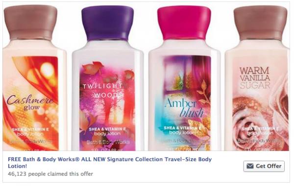 Bath and Body Free Sample