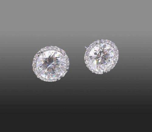 Steve Sasco Diamond Stud Earrings