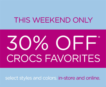 crocs weekend sale
