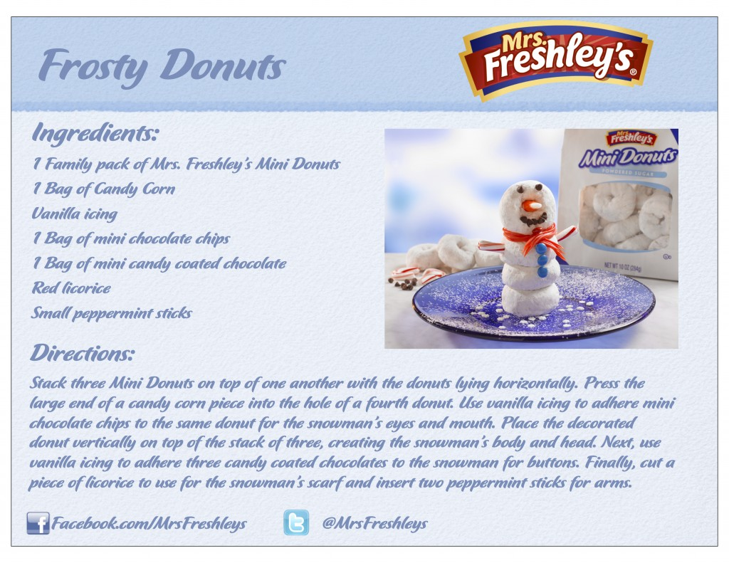 Frosty Donuts Recipe Card