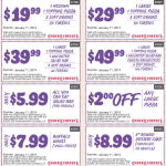Chuck E Cheese Printable Coupons January and February 2014