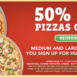 50% off Online Ordering at Pizza Hut {ends 1/10/14}