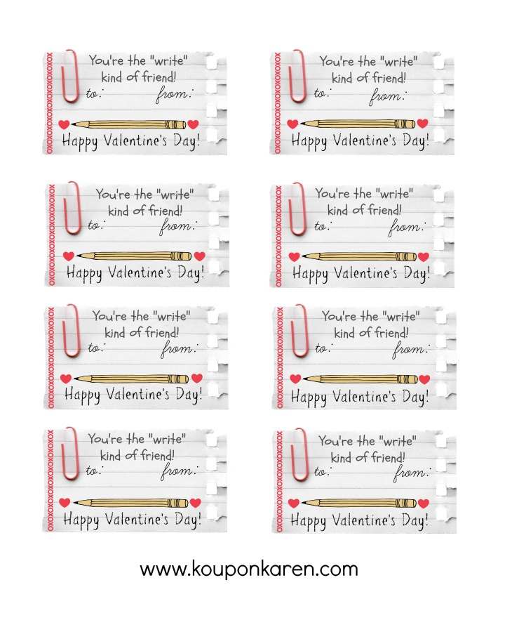 image regarding Friendship Coupons Printable known as Do-it-yourself Valentine Clroom Present - Free of charge Valentine \