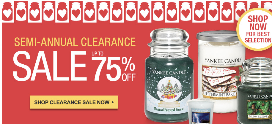 Yankee Candle Semi-Annual Sale