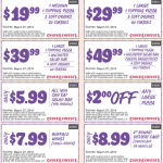 Chuck E Cheese Printable Coupons February 2014