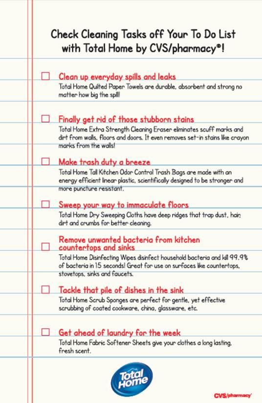 CVS Total Home Cleaning Tips