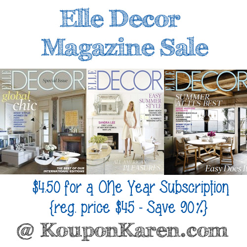 Ell Decor Magazine Deal