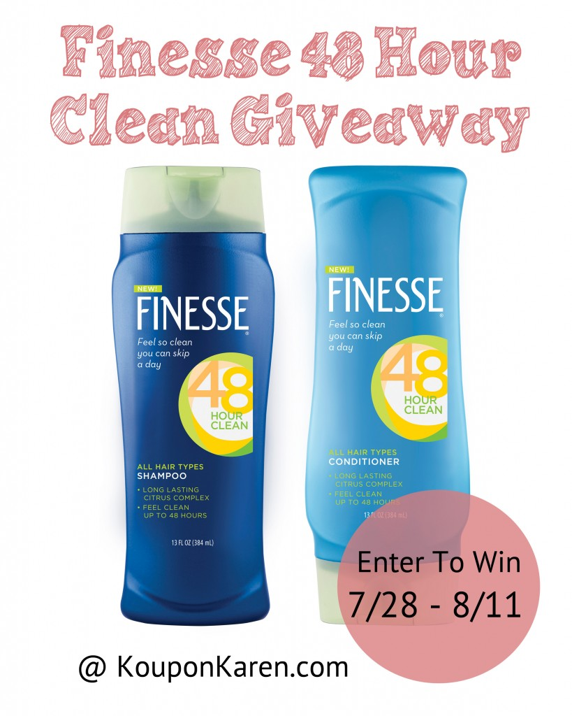 Finesse 48 Hour Clean Giveaway