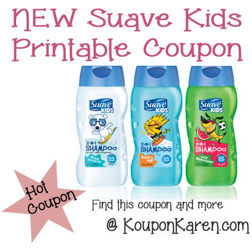 Suave Kids Printable Coupon