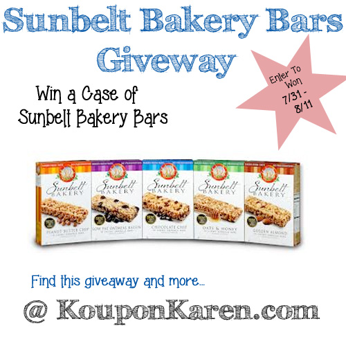 Sunbelt Bars Giveaway
