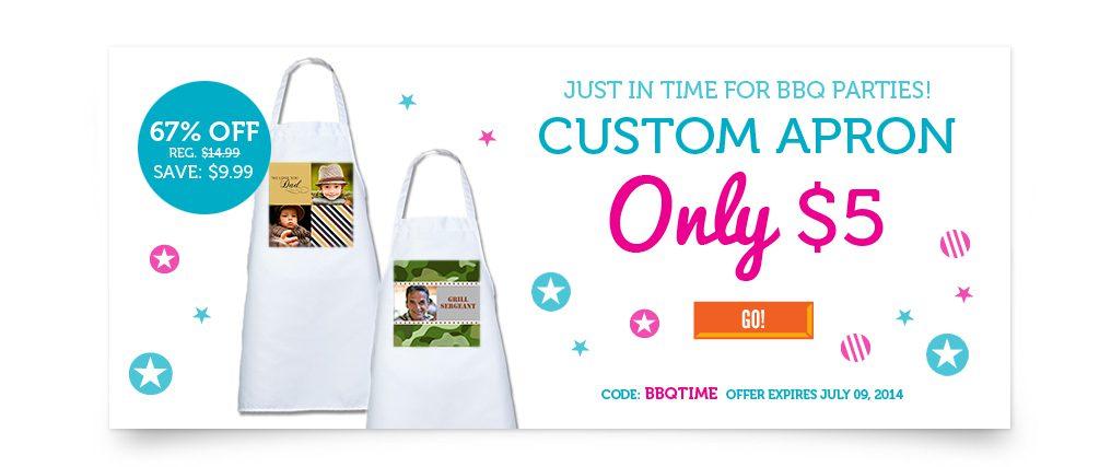 custom photo apron