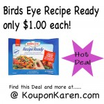 Birds Eye Recipe only $1 at Stop & Shop