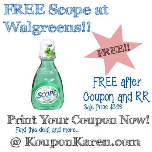 FREE Scope at Walgreens