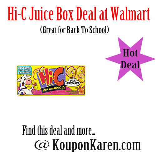 Hi-C Drink Box Deal at Walmart