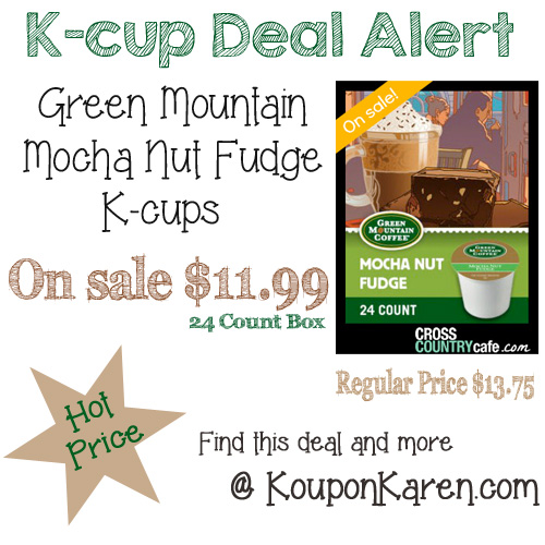 Green Mountain Mocha Nut Fudge K-cup Sale