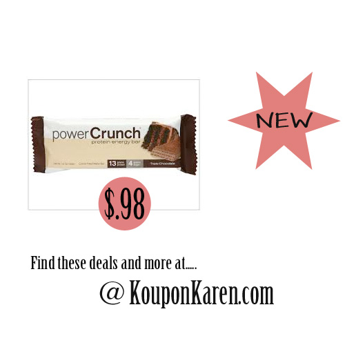 PowerPowerCrunch Bars only $.98 eachCrunch-Bar-Deal