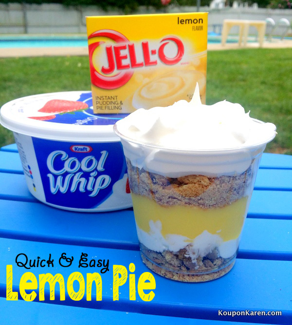 Quick and Easy Snacks - Lemon Pie in a Cup
