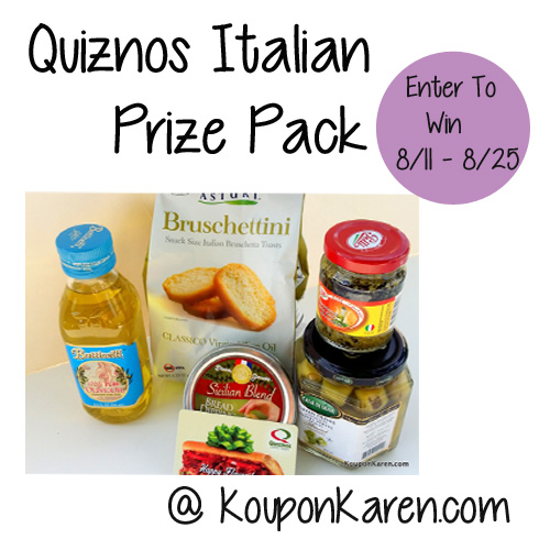 Quiznos Italian Prize Pack