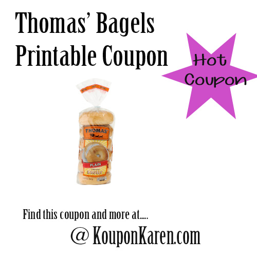 Rare Thomas' Bagels Printable Coupon
